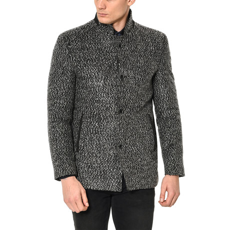 Lewis Overcoat // Patterned Gray
