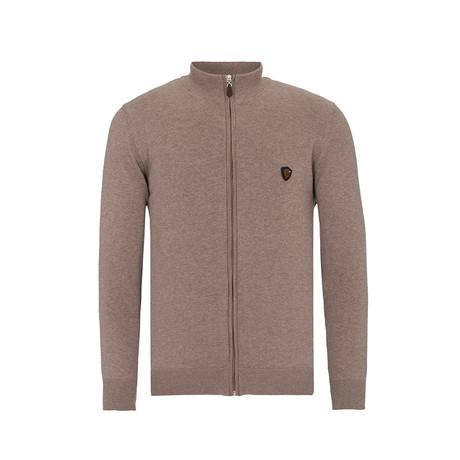 Zip-Up Sweater // Beige