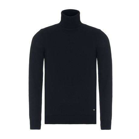 Turtle Neck Sweater // Navy