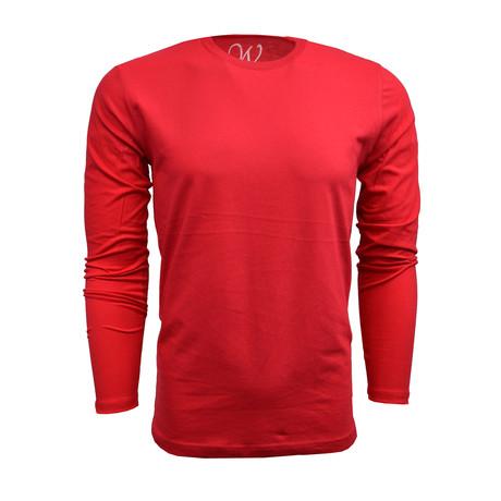 Crew Neck Long-Sleeve Tee // Red (S)