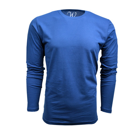 Ultra Soft Suede Semi-Fitted Long-Sleeve Crew // Royal Blue (S)