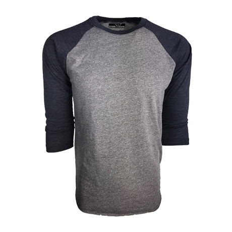 Ultra Soft Tri-Blend 3/4 Sleeve Raglan // Vintage Navy + Heather (S)