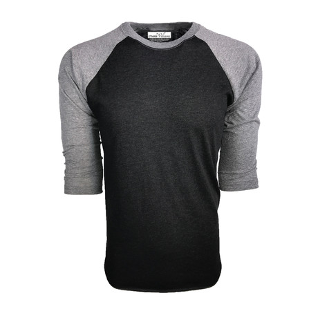 Ultra Soft Tri-Blend 3/4 Sleeve Raglan // Vintage Black + Heather (S)