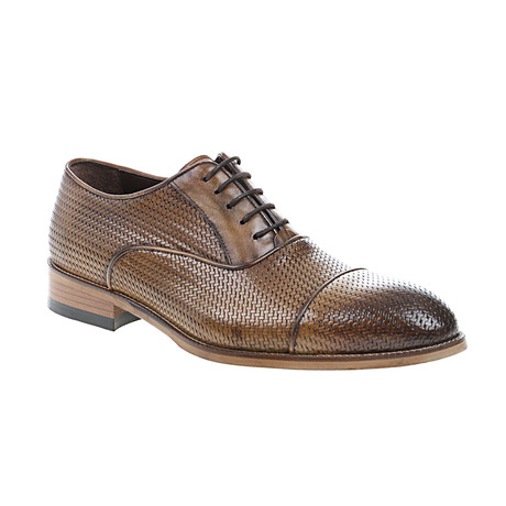 Weave Embossed Oxford // Nut