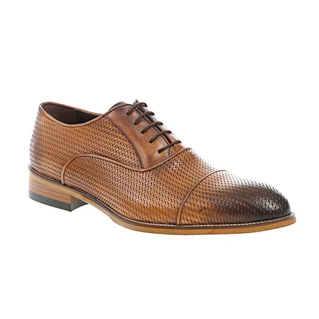 Weave Embossed Oxford // Tobacco