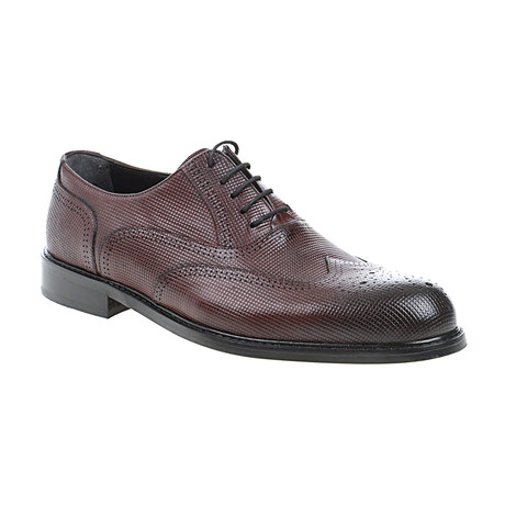 Fully Embossed Oxford // Claret Red