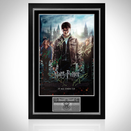 Harry Potter // Cast Signed Poster // Custom Frame