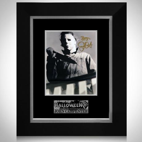 Halloween // John Carpenter Signed Photo // Custom Frame