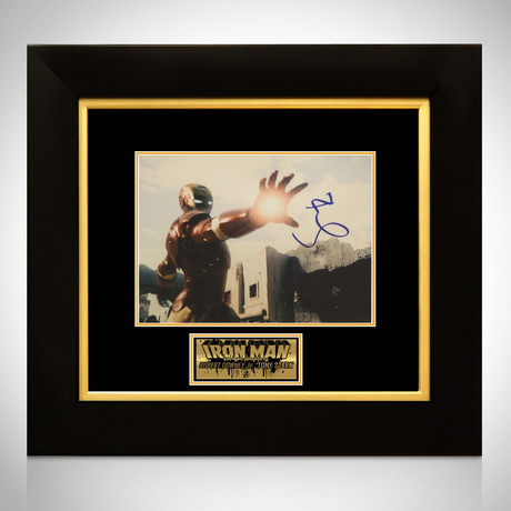 Iron Man // Robert Downey Jr. Signed Photo // Custom Frame