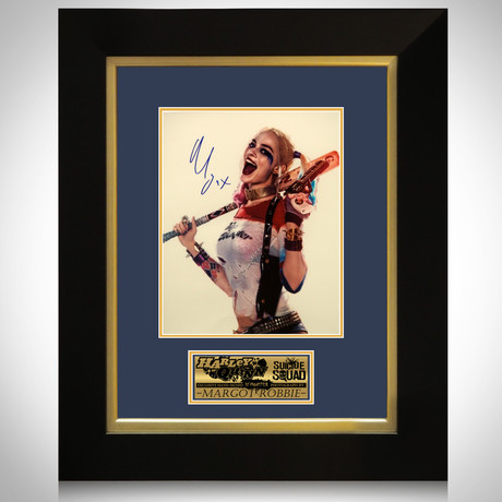 Harley Quinn // Margot Robbie Signed Photo // Custom Frame I