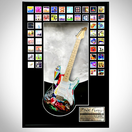 Pink Floyd The Wall // Band Signed Guitar // Custom Shadow Box