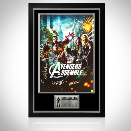 Avengers // Cast + Stan Lee Signed Poster // Custom Frame