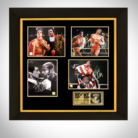 Rocky // Stallone + Creed + Drago Signed Photos // Custom Frame