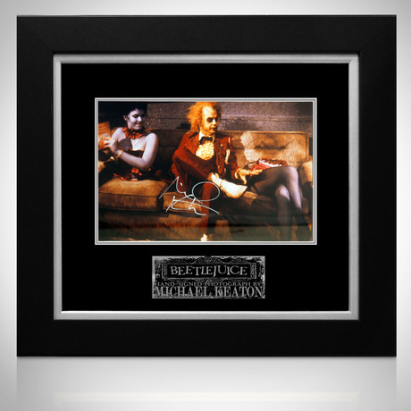 Beetlejuice // Michael Keaton Signed Photo // Custom Frame