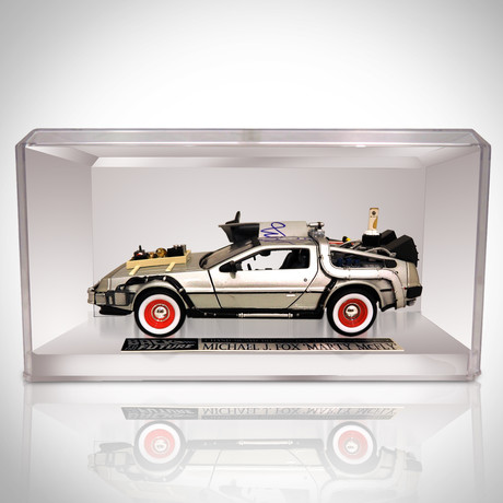 Back To The Future 3 // Michael J Fox Signed Delorean Car // Custom Display