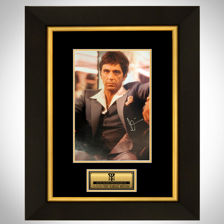Scarface // Al Pacino Signed Photo // Custom Frame II
