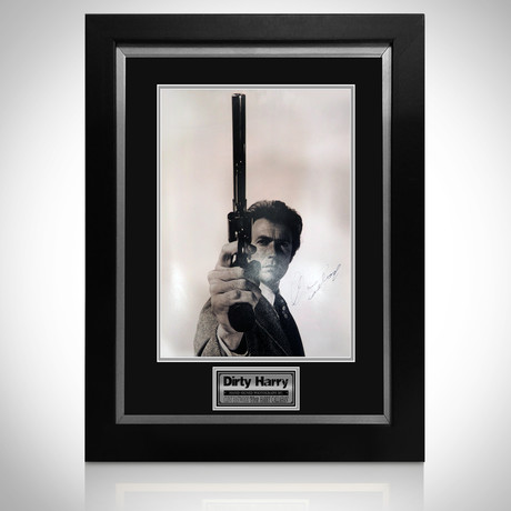 Dirty Harry // Clint Eastwood Signed Mini Poster // Custom Frame