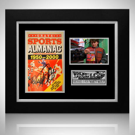Back To The Future // Michael J Fox Signed Sports Almanac // Custom Frame