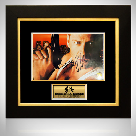 Die Hard // Bruce Willis Signed Photo // Custom Frame II