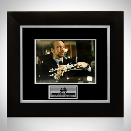 Die Hard // Alan Rickman Signed Photo // Custom Frame