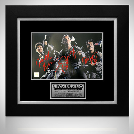 Ghostbusters // Murray + Aykroyd + Ramis Signed Photo // Custom Frame