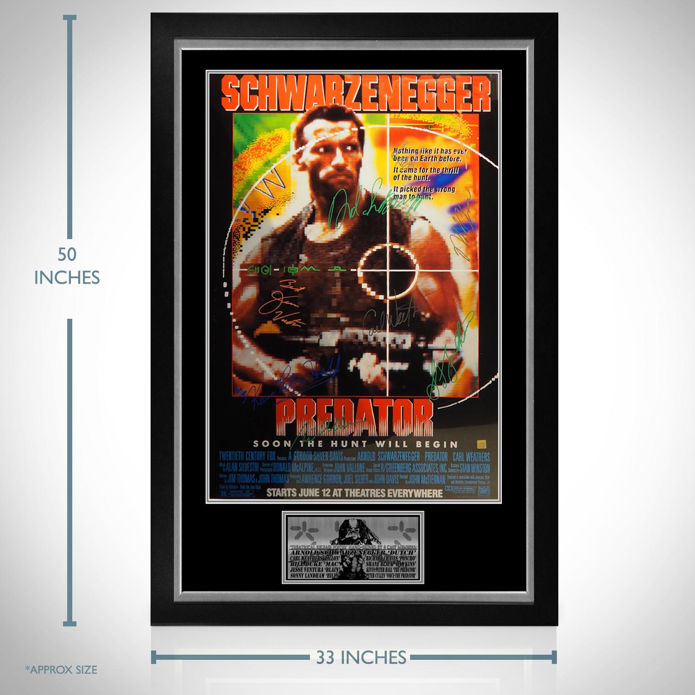 Predator Cast Signed Poster Custom Frame Rare T