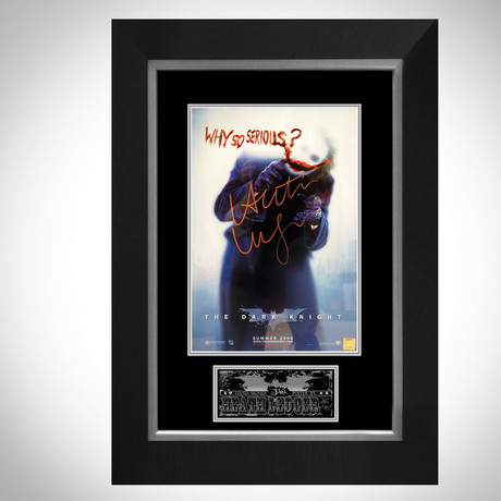 Dark Knight // Heath Ledger Signed Mini Poster // Custom Frame