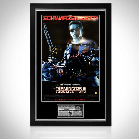 Terminator // Cast Signed Poster // Custom Frame