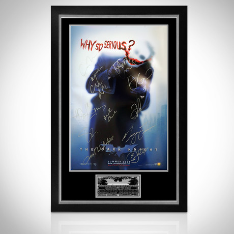 Dark Knight // Cast + Heath Ledger Signed Poster // Custom Frame
