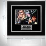 Star Wars Han Solo + Chewbacca // Harrison Ford + Peter Mayhew Signed Photo // Custom Frame