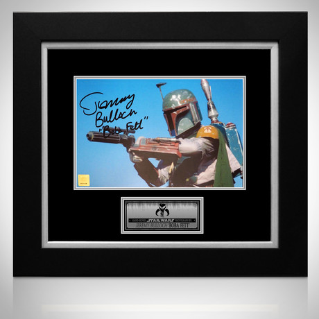 Star Wars Boba Fett // Jeremy Bullock Signed Photo // Custom Frame