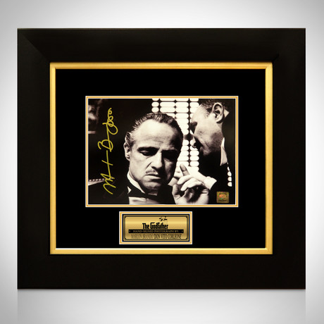 Godfather Vito Corleone // Marlon Brando Signed Photo // Custom Frame