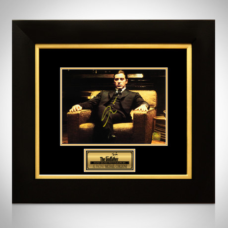 Godfather Michael Corleone // Al Pacino Signed Photo // Custom Frame
