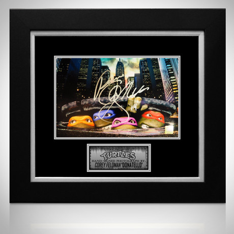 Teenage Mutant Ninja Turtles // Corey Feldman Signed Photo // Custom Frame