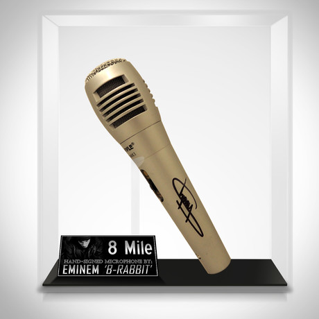 8 Mile // Eminem Signed Microphone // Museum Display