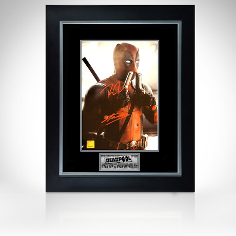 Deadpool // Ryan Reynolds + Stan Lee Signed Photo // Custom Frame