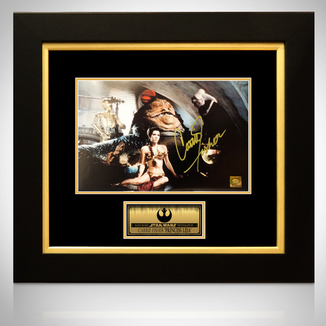 Star Wars Princess Leia // Carrie Fisher Signed Photo // Custom Frame
