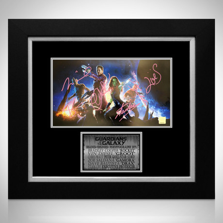 Guardians Of The Galaxy // Cast + Stan Lee Signed Photo // Custom Frame