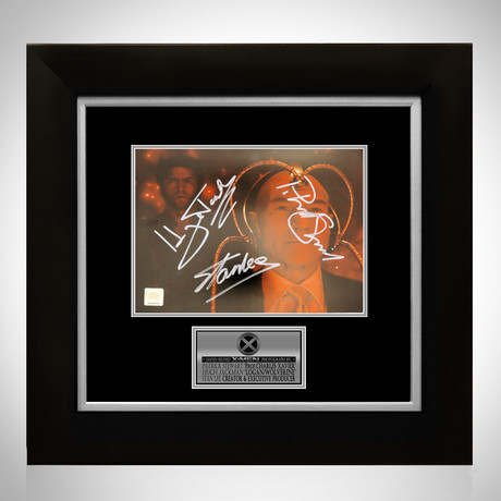 X-Men // Patrick Stewart + Hugh Jackman + Stan Lee Signed Photo // Custom Frame