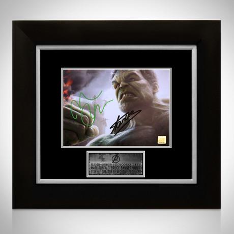 Hulk // Mark Ruffalo + Stan Lee Signed Photo // Custom Frame