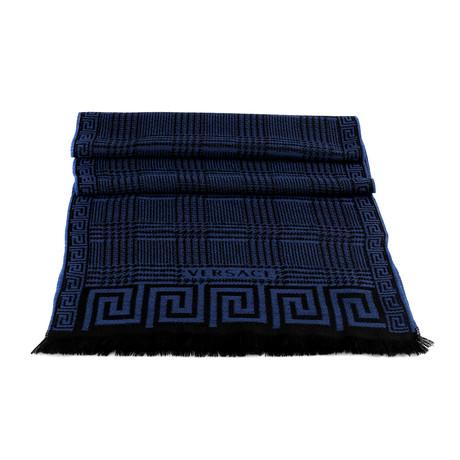 Fiorino Wool Scarf // Blue + Black