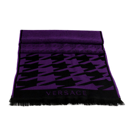 Uriele Wool Scarf // Purple + Black