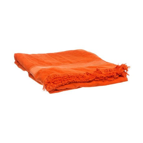 Hermes // Large Terry Cloth Yachting Towel // Orange // 3474 // Pre-Owned
