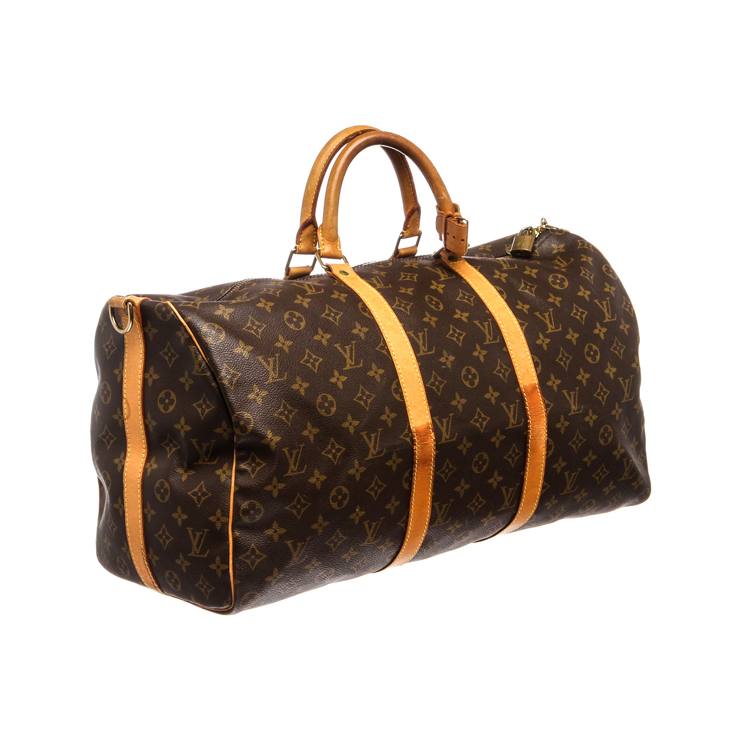 louis vuitton monogram keepall 50 bandouliere duffle th0926 pre owned louis vuitton. Black Bedroom Furniture Sets. Home Design Ideas