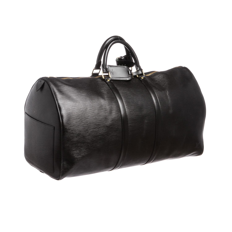 Louis Vuitton Epi Leather Keepall Duffle Bag Black Sp0948
