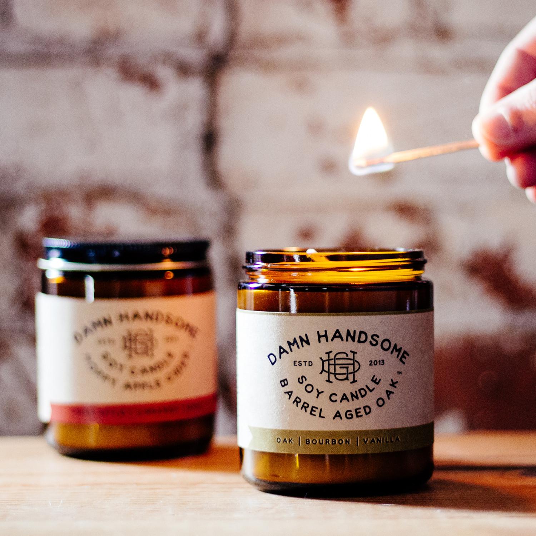 Barrel Aged Oak Candle + Hoppy Apple Cider Candle
