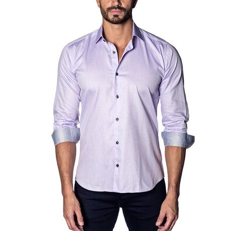 Woven Button-Up // Lilac (S)