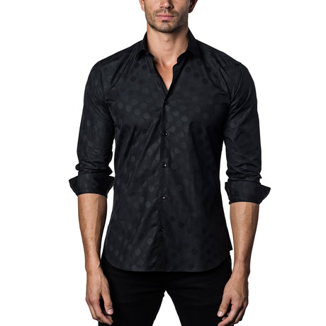 Woven Button-Up II // Black (S)