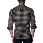 Woven Button-Up II // Brown Check (S)