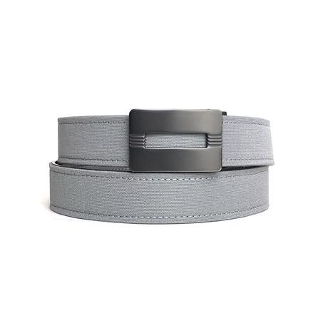 Malibu Buckle + Canvas Belt // Charcoal